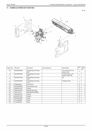 KonicaMinolta hub 165 185 Service Manual